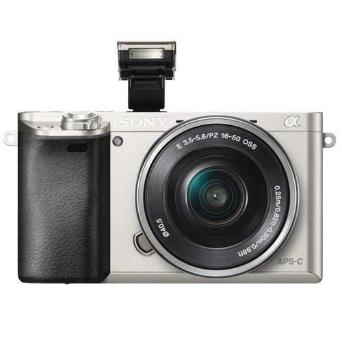 Sony A6000 Mirrorless Camera in Silver with Power Zoom Lens