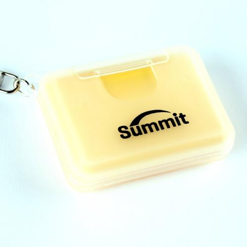 Summit Memory Card Case for SD and Micro-SD Cards Yellow