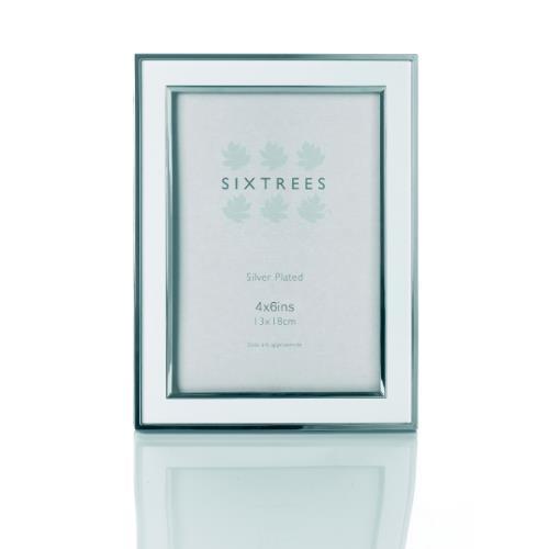 Sixtrees Abbey White/Silver Aluminium 4x6 Frame