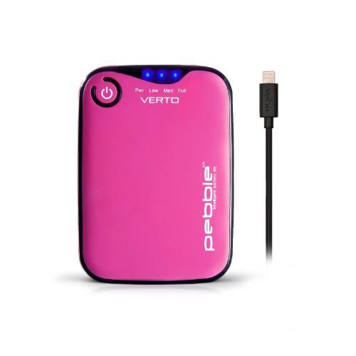 Veho Pebble Verto Pro Portable 3,700mAh Power Bank - Pink
