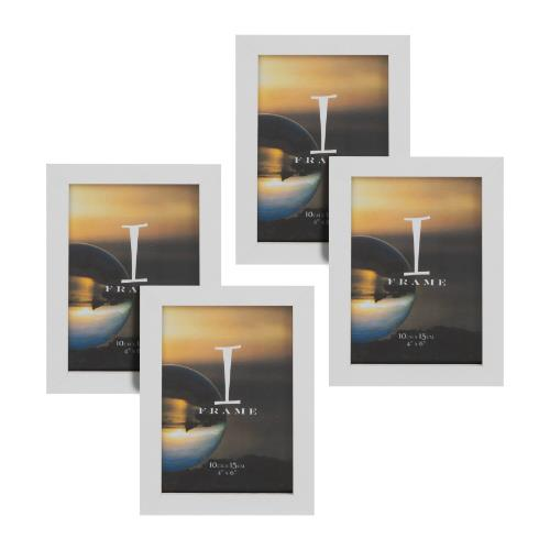 Widdop iFrame Set of 4 White 4 x 6' Photo Frames
