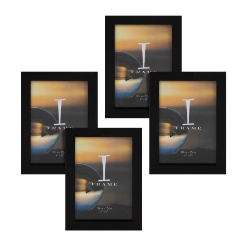 Widdop iFrame Set of 4 Black 4 x 6' Photo Frames