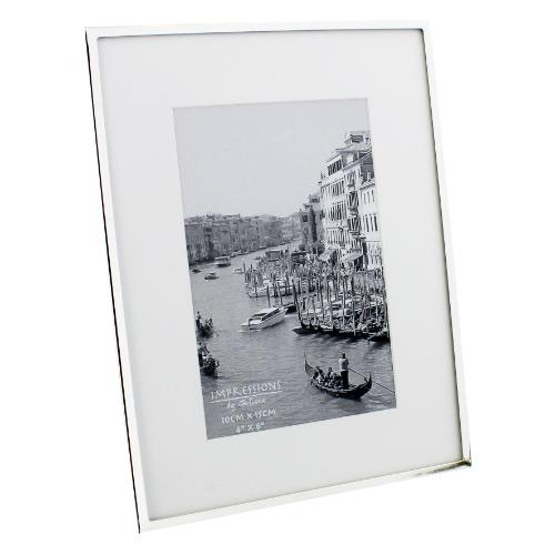 Widdop Impressions White Border 4 x 6' Silver-plated Photo Frame