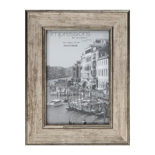 Widdop Impressions Tarnished Pewter Look 4 x 6' Photo Frame