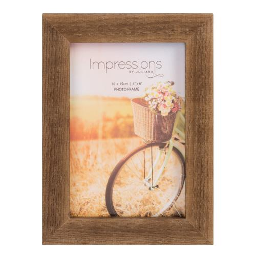 Widdop Impressions Natural Finish 4 x 6' Wood Photo Frame