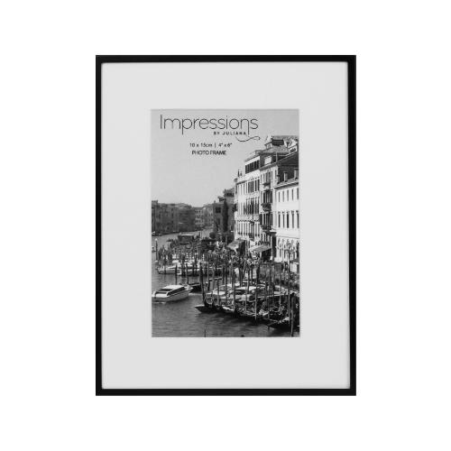 Widdop Matt Black 4 x 6' Metal Photo Frame