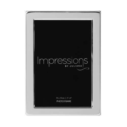 "Widdop Impressions 4x6"" Silver Plated Flat Edge Photo Frame"