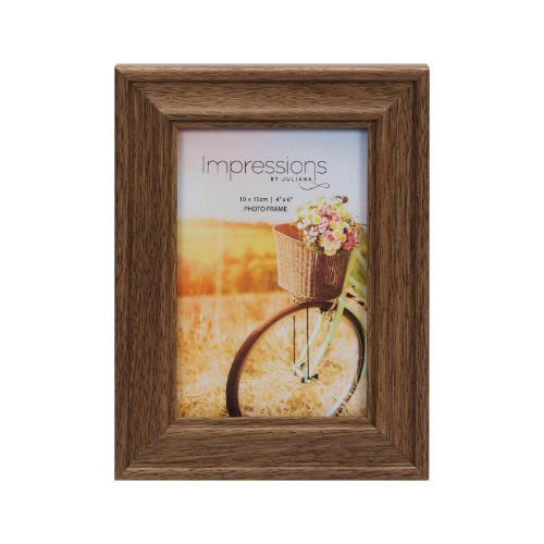 "Widdop Natural Walnut Finish Wooden 4 x 6"" Photo Frame"