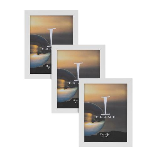Widdop iFrame Set of 3 White 5 x 7' Photo Frames