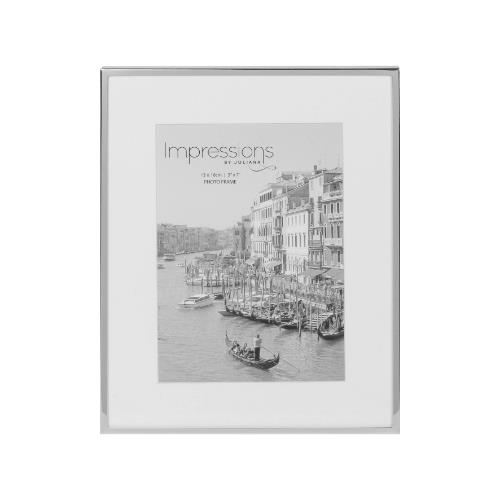 Widdop Impressions White Border 5 x 7' Silver-plated Photo Frame