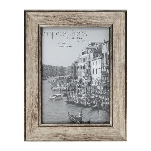 Widdop Impressions Tarnished Pewter Look 5 x 7' Photo Frame