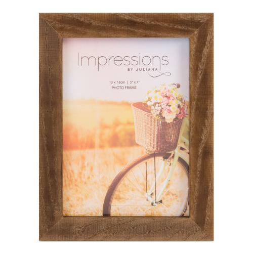 "Widdop Impressions Natural Finish 5"" x 7' Wood Photo Frame"