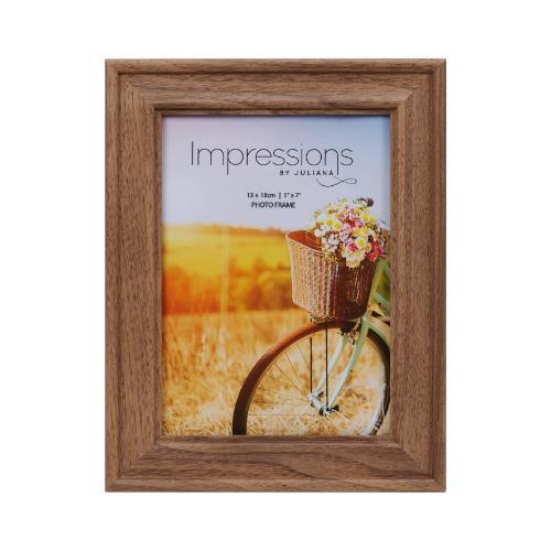 "Widdop Natural Walnut Finish Wooden 5 x 7"" Photo Frame"