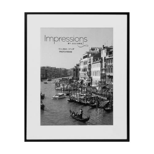 Widdop Matt Black 6 x 8' Metal Photo Frame