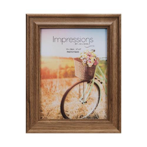 "Widdop Natural Walnut Finish Wooden 6 x 8"" Photo Frame"