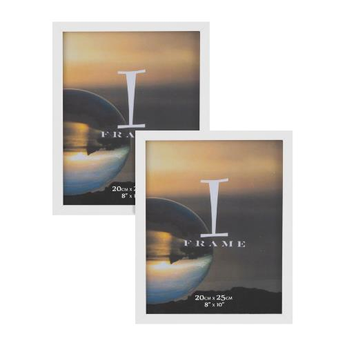 Widdop iFrame Set of 2 White 8 x 10' Photo Frames
