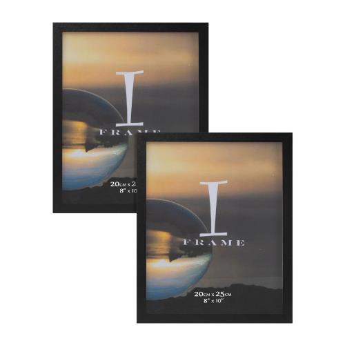 Widdop iFrame Set of 2 Black 8 x 10' Photo Frames
