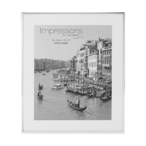 Widdop Impressions White Border 8 x 10' Silver-plated Photo Frame