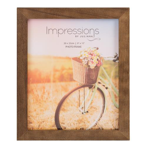 Widdop Impressions Natural Finish 8 x 10' Wood Photo Frame