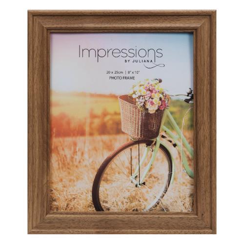 "Widdop Walnut Finish Wooden 8 x 10"" Photo Frame"