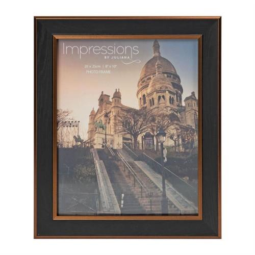 Widdop 8' X 10' - Impressions Black and Brown Wood Finish Frame
