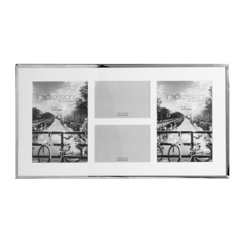 Widdop Impressions 4 Apertures Nickel Plated Photo Frame