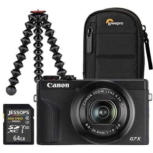 Canon PowerShot G7 X Mark III Digital Camera in Black Vlogging Kit