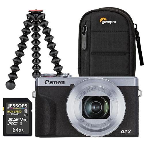 Canon PowerShot G7 X Mark III Digital Camera in Silver Vlogging Kit