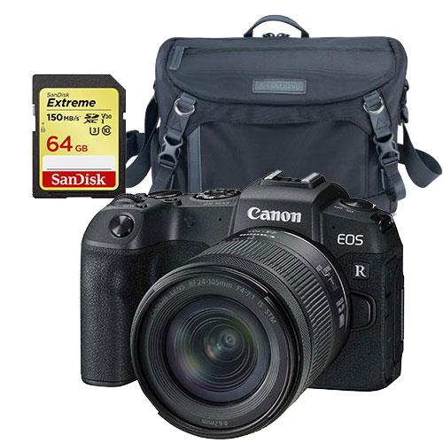 Canon EOS RP Mirrorless Camera with RF 24-105mm IS STM Lens and Accessory Bundle