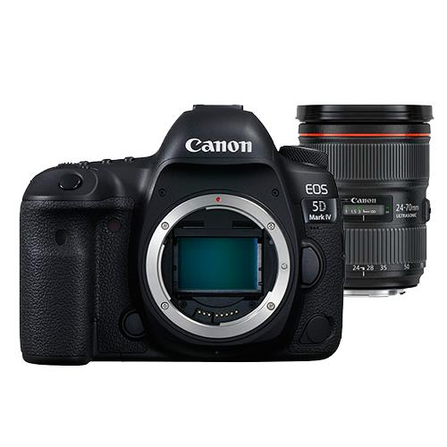 Canon EOS 5D Mark IV Digital SLR Body with EF 24-70mm f/2.8L II USM Lens