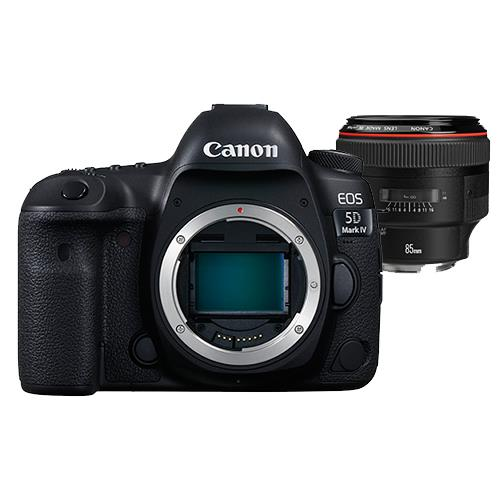 Canon EOS 5D Mark IV Digital SLR Body with EF 85mm f/1.2L II USM Lens