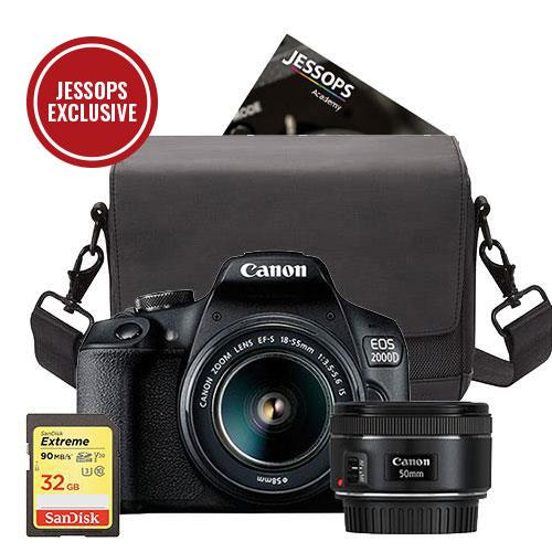 Canon EOS 2000D Digital SLR Twin Lens Complete Kit. Worth £570 Everything you need in one Box!
