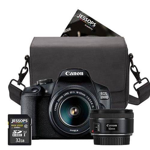 Canon EOS 2000D Digital SLR Twin Lens Starter Kit