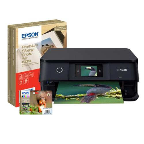 Epson Expression Photo XP-8500 Colour Ink Jet Printer Ink and Paper Bundle