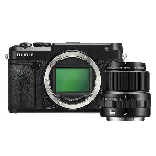 Fujifilm GFX 50R Mirrorless Medium Format Camera Body with GF45mm f/2.8 Lens