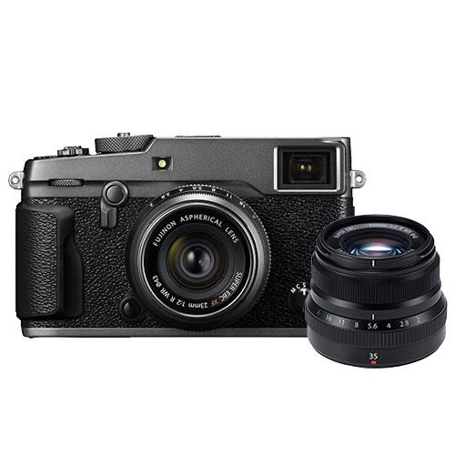 Fujifilm X-Pro2 Mirrorless Camera Body in Graphite with XF23mm F/2.0R WR Lens and XF35mm F/2.0R WR Lens