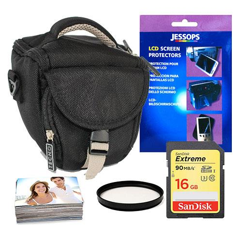 Jessops Mirrorless 16GB Holster Bundle