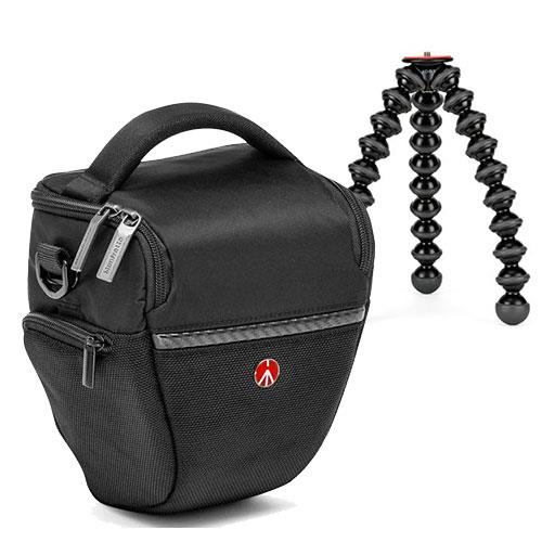 Manfrotto Advanced Small Holster and Joby Gorillapod 3K Stand Bundle