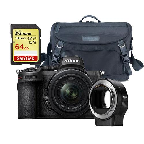 Nikon Z 5 Mirrorless Camera with Nikkor Z 24-50mm Lens and FTZ Mount Adapter + Accessory Bundle