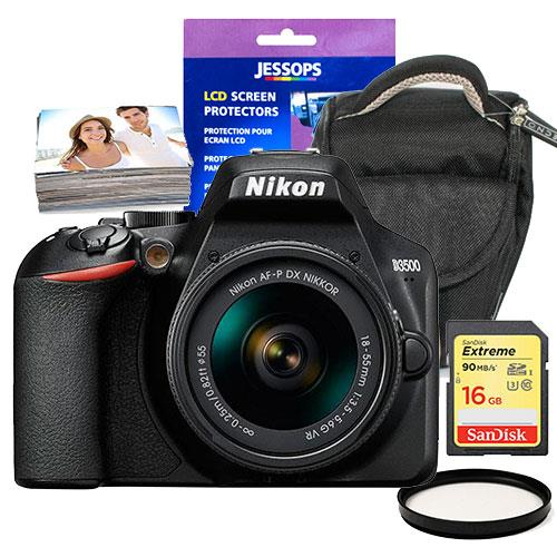 Nikon D3500 Digital SLR with 18-55mm VR Lens and Accessory Bundle