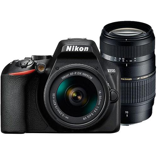 Nikon D3500 Digital SLR with 18-55mm VR Lens and Tamron 70-300mm Lens