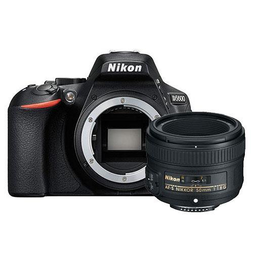 Nikon D5600 Digital SLR Body in Black with Nikkor AF-S 50mm f/1.8G Lens