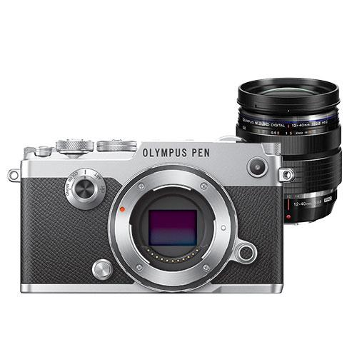 Olympus PEN-F Mirrorless Camera Body in Silver with 12-40mm f/2.8 Pro Lens