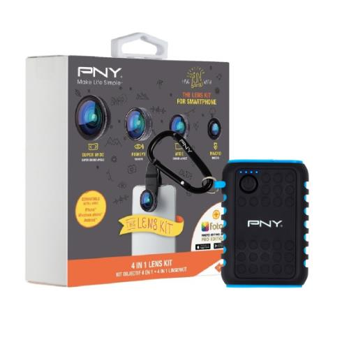 PNY 4in1 Lens Kit and Outdoor Charger Kit