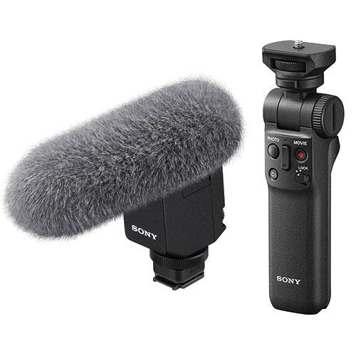 Sony ECM-B1M Shotgun Microphone and Sony GP-VPT2BT Grip