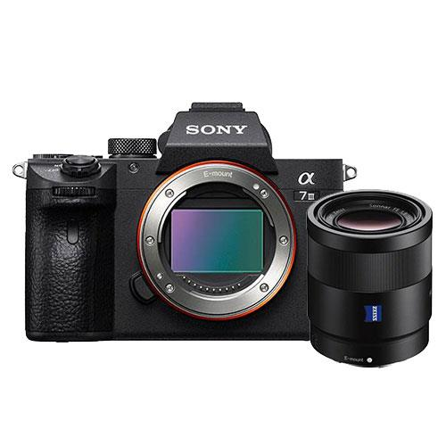 Sony A7 III Mirrorless Camera Body with FE 55mm f/1.8 Lens