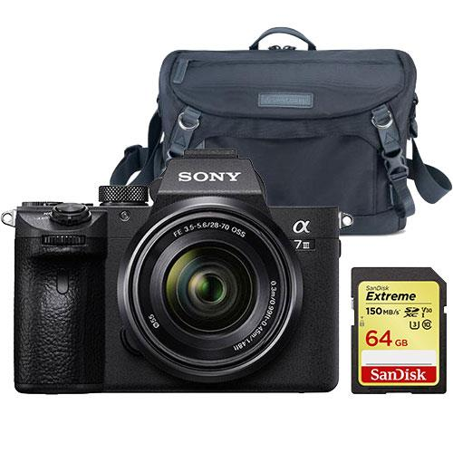 Sony a7 III Mirrorless Camera + FE 28-70mm Lens and Accessory Bundle