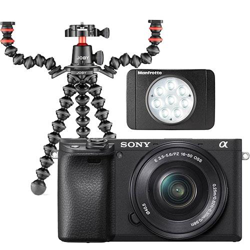 Sony A6400 Mirrorless Camera in Black with 16-50mm Lens Creator Kit