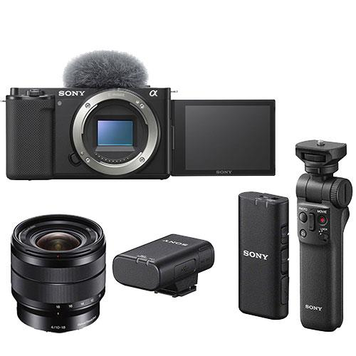 Sony ZV-E10 Mirrorless Vlogger Camera Body Creator Kit with Sony 10-18mm Lens