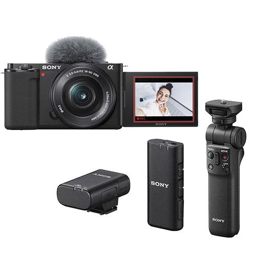Sony ZV-E10 Mirrorless Vlogger Camera with 16-50mm Lens Creator Kit
